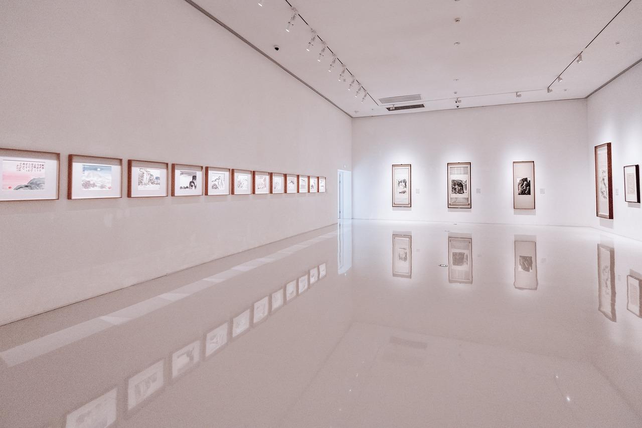 art gallery, exhibition, walls
